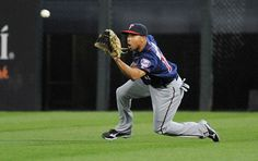 Ben Revere #11 of the Minnesota Twins makes a catch against the Chicago White Sox on May 24, 2012