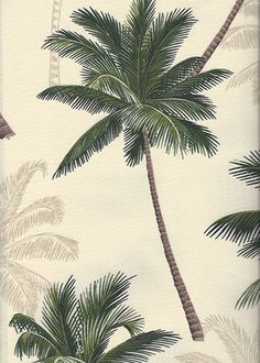 - Barkcloth Hawaii - Timeless Hawaiian Fabrics For your Home& Body Tropical vintage style, Hawaiian botanical palm tree fabric. Tropical Fabric, Tropical Design, Tropical Pattern, Tropical Vibes, Tropical Leaves, Tropical Flowers, Botanical Illustration, Botanical Art, Pattern Texture