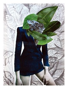 """Leaves"" Elena Ciuprina collage, illustration."