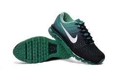 Clearance Nike Air Max 2017 Peacock Green White Black Sneakers New - $69.89