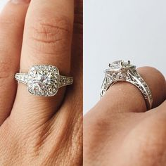 So in love with this engagement ring from Wedding Day Diamonds! The details are incredible! <3