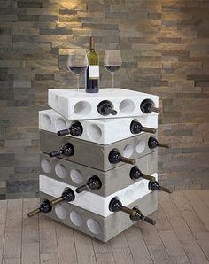 Porta bottiglie in legno massello noce scuro art 24 n - Porta vini da parete ...