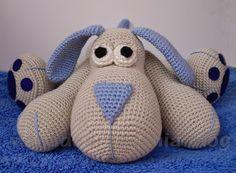 con A de artesanía: Amigurumi perrito Leopoldo Free huge(?) dog crochet pattern