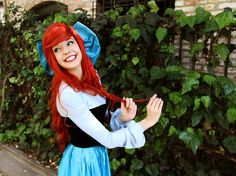 I SO WANT TO BE ARIEL FOR HALLOWEEN ONE YEAR!  I like how this one isn't the traditional swimsuit top!