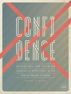 So in love with this. Color, handmade font, design. Confidence by Cody Small, via Behance