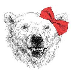 Hello Polar Bear    Photoshop, 2010.    For Sale @ shirt.woot