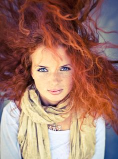 her hair is like from brave. :P,.. i want it. mine is brown,.. hers is gorgeous!