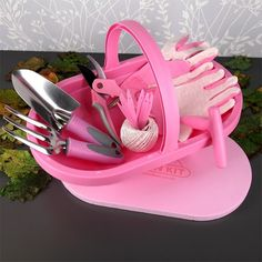 Gartenkorb | mit pinker Ausrüstung für die Frau