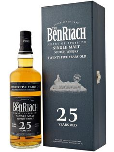BENRIACH 25 year single malt scotch....this is the best scotch I have ever had.