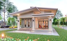 Simple Three-bedroom Bungalow with a Provision for another Bedroom and Storage – Amazing Architecture Magazine Simple Bungalow House Designs, Modern Bungalow House, Simple House Design, Bungalow House Plans, Small Bungalow, Online Architecture, Architecture Magazines, Residential Architecture, Amazing Architecture