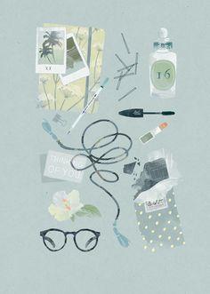Illustrations by Babeth Lafon on www.inspiration-now.com