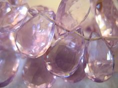 Shop Sale.. PINK AMETHYST Briolettes Pear Beads Luxe AAA 8 Amethyst Color, Pink Amethyst, Amethyst Pendant, Lilac Color, Purple, Lilac Roses, Wholesale Beads, Wire Wrapped Pendant, Birthstones