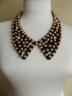 detachable peter pan collar necklace beads bridal by trendycollars, $25.90