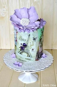 Vous aurez beau faire, vous n'anéantirez pas cet éternel res. Parisian Cake, Cake Paris, Paris Themed Cakes, Gorgeous Cakes, Pretty Cakes, Amazing Cakes, Girly Cakes, Fancy Cakes, Hand Painted Cakes