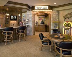 Man Cave -- Bar, Poker table, juke box, theatre...