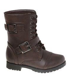 Loving this Brown Buckle Boot on #zulily! #zulilyfinds
