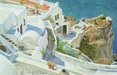 Image result for santorini art Santorini, Greece, Paintings, Image, Art, Greece Country, Art Background, Paint, Painting Art