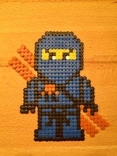 Ninjago Jay aus Bügelperlen