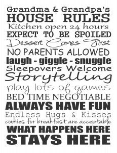 Grandma's House Rules - Not parents rules Free Printable by Stickelberry Birthday Gifts For Grandma, Grandma Gifts, House Rules Sign, Grands Parents, Grandchildren, Granddaughters, Grandkids, Family Rules, Grandma And Grandpa