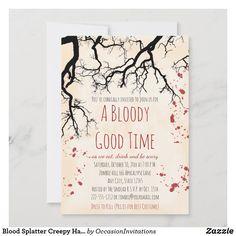 Vampire Halloween Party, Adult Halloween Party, Creepy Halloween, Halloween Cards, Halloween Gifts, Halloween Themes, Custom Invitations, Invitation Cards, Birthday Invitations