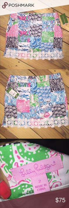 "NWT Lilly Pulitzer skirt w/light lined shorts Great nwt condition.  No stains, tears, or holes. Lightly lined with shorts inside  15.5"" across waist  •I bundle & discount bundles •If an item is higher than you want to pay, message an offer or favorite & wait for price to drop weekly.  •My mannequin is Xsm so sometimes items appear loose or I clip back for actual look/fit •Usually ships within 24 hrs and latest 48 hours unless otherwise noted.  •Some of my items are various sizes because I…"
