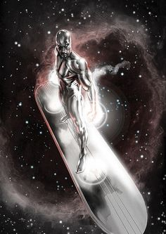 Silver Surfer by Gabriele Dell'Otto Marvel Comics Art, Marvel Comic Books, Comic Book Characters, Comic Book Heroes, Marvel Heroes, Marvel Characters, Comic Character, Comic Books Art, Comic Art