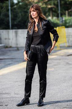 Caroline de Maigret shows again how menswear inspired dressing is done
