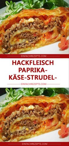 Minced meat, pepper and cheese strudel ?Minced meat, pepper and cheese strudel ?Pasta with vegan bell pepper cashew sauceWe love pasta! This recipe idea is quick to prepare, vegan and simply Stew Meat Recipes, Smoked Meat Recipes, Pasta Recipes, Baby Food Recipes, Healthy Recipes, Menu Dieta, Beef Pasta, Carne Picada, Mince Meat