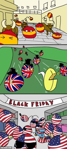 Dangerous traditions: Countryball meets Black Friday