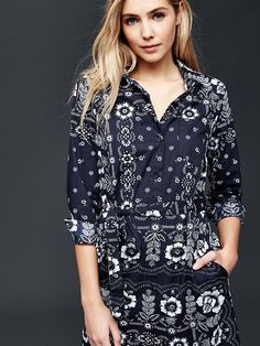 Bandana shirt dress | Gap