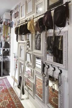 love the mirrors, but would als work well as a gallery wall not in a closet