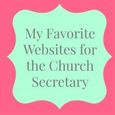 Church Secretary Websites