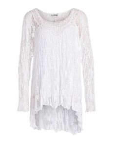 White Lace Top by Joseph Ribkoff