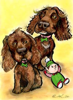 Dogs Caricature Portrait Gift! dog portrait caricature ireland #caricatures #dogportraitsireland #fungiftsforpetowners #giftsfordogowners #petartistsireland #petdrawingsireland #petportraitsireland