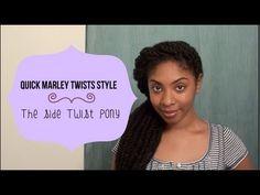 Quick Marley Twists Style: Side Twist Pony