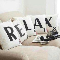 Relax - Scrabble pillows