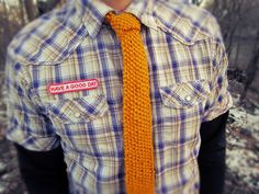 Yellow Knit Necktie  Mustard Yellow Mens Knitted by AutumnAndAmber, $32.00