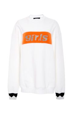 Oversized Graphic Sweater  by ALEXANDER WANG for Preorder on Moda Operandi