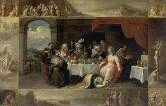 """« Le repas chez Simon » Frans II Francken (1581-1642) Musée des Beaux-Arts, Rennes. ONZIEME DIMANCHE DU TEMPS ORDINAIRE """"C 'est le Christ qui vit en moi."""" (Ga 2, 20) Samedi 11 Juin : Saint Genest : messe à 18h30 Dimanche 12 Juin : La Madeleine : messe..."""
