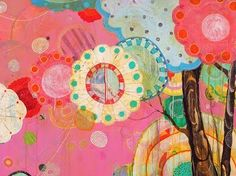 Seattle based artist Liz Tran  works with energetic colour palette. These tree art are some of her latest works inspired by guerrila knitti...