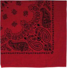 """Red & Black Trainmen Cotton Paisley Sport 22"""" x 22"""" Bandana Biker Headwrap   4057   $1.99"""