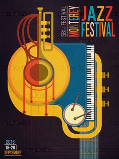 Check out this design by José Miguel Mayo for the 2015 Monterey Jazz Festival design contest on Creative Allies!