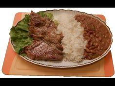 ARROZ CON MENESTRA Y CARNE ASADA | Ricette Etniche Sudamericane