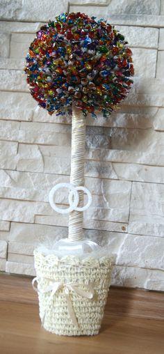 Drzewko szczęścia z mini cukierków www.slodki-upominek.pl