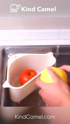 👉🏼 Get Yours Now at KindCamel.com Kitchen Sink Strainer, Corner Sink, Sink Drain, Smart Kitchen, Basket, Tags, Free, Mailing Labels