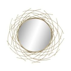 Shop for Gold-tone Fir Wood/Iron/Glass Overlapping Arc Wall Mirror. Get free shipping at Overstock.com - Your Online Home Decor Outlet Store! Get 5% in rewards with Club O! - 25551367