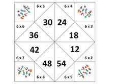 Tabuada divertida- Srª Paula Teles - Atividades Adriana Math Games, Math Activities, Multiplication Tricks, Math Story Problems, School Template, Montessori Math, School Worksheets, 4th Grade Math, Math For Kids