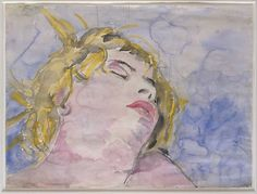 Virginia Woolf, Anselm Kiefer, 1975, Watercolor, gouache, and graphite on paper, 35.6 x 47.6cm