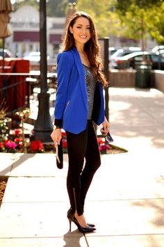 Cobalt Blue for Powerful Stylish Look: 20 Outfit Ideas. Look especially at color combinations.