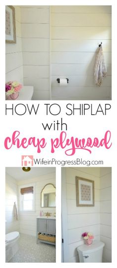 DIY Home Decor It's easy and cheap to get the shiplap look on any wall using cheap plywood. It's affordable and super easy to work with! You're going to love how it will transform your home to give you that coveted Fixer Upper style! Affordable Home Decor, Easy Home Decor, Cheap Home Decor, Home Renovation, Home Remodeling, Cheap Remodeling Ideas, Cheap Renovations, Casas Magnolia, Boho Apartment